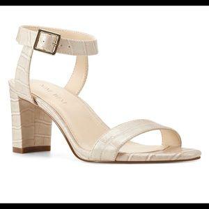 Nine West Croco Heel Sandals